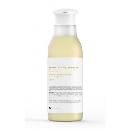 Przeciwłupieżowy szampon z szałwią i tymiankiem, do włosów ze skłonnością do przetłuszczania 250 ml
