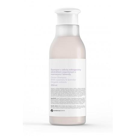 Szampon z cebulą wzbogacony ekstraktem organicznym z rozmarynu i lawendy 250 ml