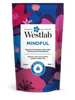 Mindful Odprężająca sól do kąpieli z olejkiem kadzidłowym i skórką bergamotki 1kg