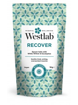 Recover Regenerująca sól do kąpieli z ekstraktem z białej wierzby i eukaliptusem 1kg